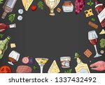 hand drawn alcohol collection... | Shutterstock .eps vector #1337432492