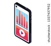 smartphone graph icon....