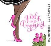 vector girl in high heels.... | Shutterstock .eps vector #1337439815