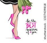 Vector Girl In High Heels....