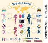 info graphics elements equality ... | Shutterstock .eps vector #133743986