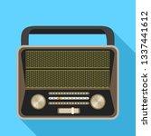 analog radio icon. flat... | Shutterstock . vector #1337441612