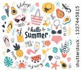 hello summer collection. vector ... | Shutterstock .eps vector #1337445815