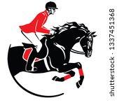 equestrian sport . horse show... | Shutterstock .eps vector #1337451368