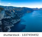 an aerial view of the coast of... | Shutterstock . vector #1337454452