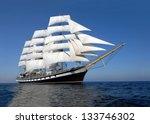 Sailing Ship. Cruise Sailing.