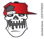 illustration of the skull in... | Shutterstock . vector #1337470025