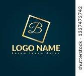 letter b gold logo concept....