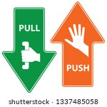 push and pull  vector... | Shutterstock .eps vector #1337485058