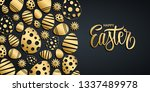 happy easter holiday background ... | Shutterstock .eps vector #1337489978
