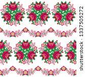 seamless floral polish folk art ... | Shutterstock .eps vector #1337505272