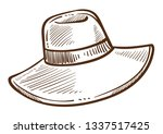 fashion design of hat isolated... | Shutterstock .eps vector #1337517425