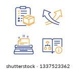 typewriter  parcel checklist... | Shutterstock .eps vector #1337523362