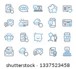 feedback line icons. set of... | Shutterstock .eps vector #1337523458