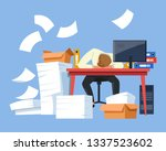 office worker tired employee... | Shutterstock .eps vector #1337523602