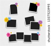 photo frame with flowers big... | Shutterstock .eps vector #1337523995