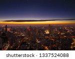 night cityscape downtown... | Shutterstock . vector #1337524088