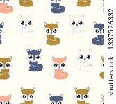 fox woodland inspired vector... | Shutterstock .eps vector #1337526332
