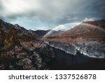 a stunning double rainbow... | Shutterstock . vector #1337526878