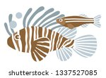 fishes on white background.... | Shutterstock .eps vector #1337527085