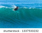 Surfer Male Silhouette Surfing...