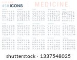 collection of vector line icons ... | Shutterstock .eps vector #1337548025