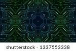 kaleidoscope design pattern | Shutterstock . vector #1337553338