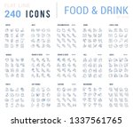 big collection of linear icons. ... | Shutterstock .eps vector #1337561765