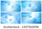 set of four football or soccer... | Shutterstock .eps vector #1337563058