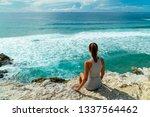 young woman admiring beautiful...   Shutterstock . vector #1337564462