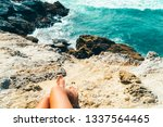 young woman admiring beautiful...   Shutterstock . vector #1337564465