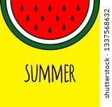 summer background. cartoon... | Shutterstock .eps vector #1337568632
