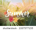 summer tropical vector design... | Shutterstock .eps vector #1337577155