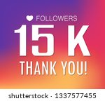 thanks for the first 15000... | Shutterstock .eps vector #1337577455