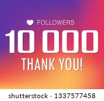 thanks for the first 10000... | Shutterstock .eps vector #1337577458