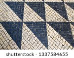 cobbled stones with triangle...   Shutterstock . vector #1337584655