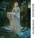 An Elven Princess With A Silver ...