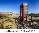 Old Red Phone Box On The Beach...