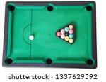 old billiard toy isolated on... | Shutterstock . vector #1337629592