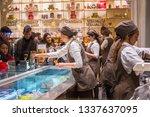 rome  italy   january 11  2019  ...   Shutterstock . vector #1337637095
