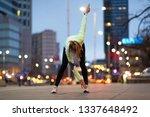female runner stretching before ... | Shutterstock . vector #1337648492