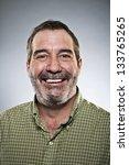 happy middle aged man portrait | Shutterstock . vector #133765265