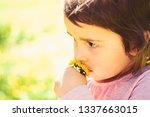 small child. natural beauty.... | Shutterstock . vector #1337663015