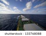 Cargo Ship Underway Viewed From ...