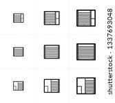 vector icon set of shutter door ... | Shutterstock .eps vector #1337693048