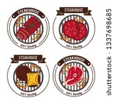 steakhouse bbq emblems | Shutterstock .eps vector #1337698685