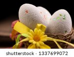 easter eggs and in the nest... | Shutterstock . vector #1337699072