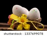 easter eggs and in the nest... | Shutterstock . vector #1337699078