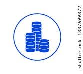 coins icon. vector illustration | Shutterstock .eps vector #1337699372