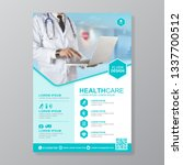 healthcare cover a4 template... | Shutterstock .eps vector #1337700512